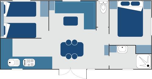 Plan mobil-home Cottage 2