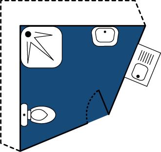 Plan emplacement camping avec sanitaire privé