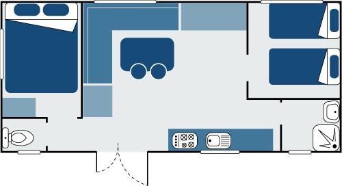 Plan mobil-home Vacances 2