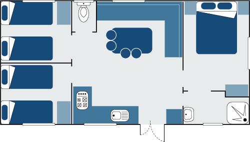 Plan mobil-home Vacances 3