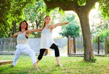 femme détente yoga