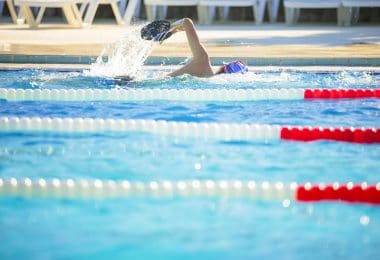 nageur piscine dauphin